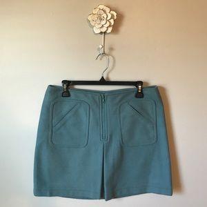 GAP | Wool Blend Front Zip Mini Skirt